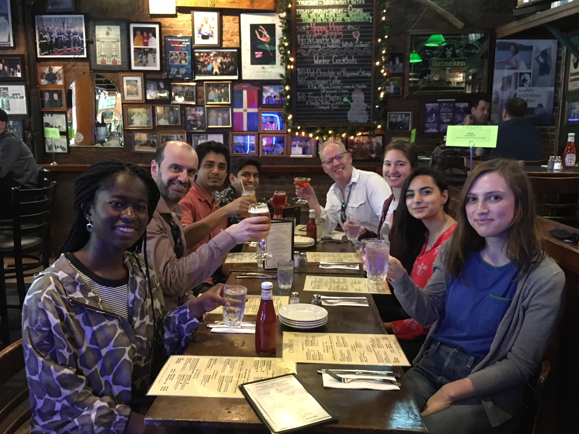 Farewell lunch for Sarah, Coogan's, 2018